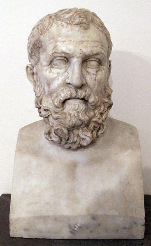 Busto romano do estadista ateniense Sólon (638-558 a.C.). Cópia romana do século 1 d.C. a partir de original grego do século 2 a.C. Museu de Nápoles. Via Wikimedia Commons.