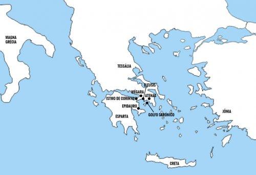 A Grécia Antiga.