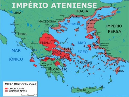 O Império Ateniense em 450 a.C.