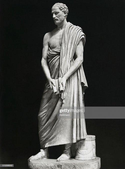 Estátua de Demóstenes, um dos grandes oradores atenienses do século 4 a.C. Museu do Vaticano.